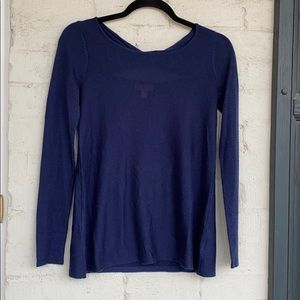 Lilly Pulitzer navy twist/open back sweater